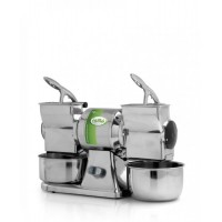 GRATER DOUBLE GD - 230V SINGLE PHASE - STAINLESS STEEL ROLLER
