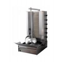 GYROS A GAS 80 Kg DONER KEBAB / KEBAP - 6 HORIZONTAL BURNERS - LOW ENGINE