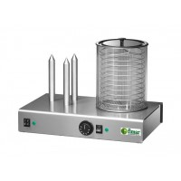 HOT DOG MACHINE - WURSTEL HEATER + 3 STEMS BREAD WARMER