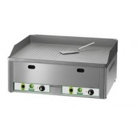 DOUBLE GAS FRY TOP - TOP IN SMOOTH-STRIPED STEEL