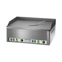 DOUBLE ELECTRIC FRY-TOP PLATE - SMOOTH STEEL TOP