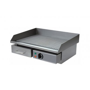 Piastra fry top elettrica serie eco piano in acciaio inox rigato - Piastra in acciaio inox per cucinare ...