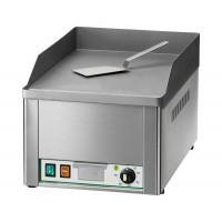 SINGLE ELECTRIC FRY TOP PLATE - SMOOTH STEEL TOP