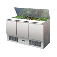 SALADETTE REFRIGERATED WITH FLAT POLYETHYLENE FOR UP TO 4 GN 1/1 CONTAINERS