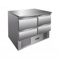 SALADETTE / REFRIGERATED TOP, STAINLESS STEEL + 4 DRAWERS