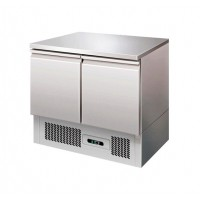 SALADETTE REFRIGERATED WITH STAINLESS STEEL WORKTOP 2 DOORS