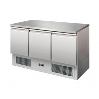 SALADETTE REFRIGERATED WITH THE TOP IN STEEL, STAINLESS STEEL 3 DOORS