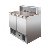 SALADETTE REFRIGERATED WITH GRANITE COUNTERTOP FOR 5 CONTAINERS GN 1/6