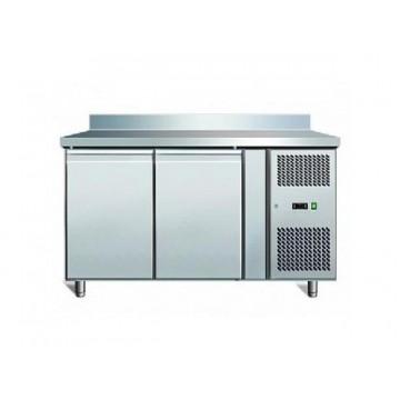 banco frigo inox positivo linea 600 gn 1 1 2 porte con alzatina. Black Bedroom Furniture Sets. Home Design Ideas