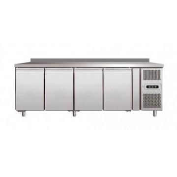 banco frigo inox positivo linea 600 gn 1 1 4 porte con alzatina. Black Bedroom Furniture Sets. Home Design Ideas
