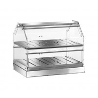 SHOWCASE the BAR's NEUTRAL STAINLESS steel 2-STOREY 50x35 cm