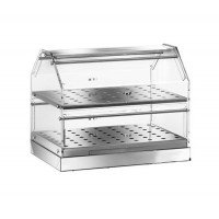 SHOWCASE the BAR's NEUTRAL STAINLESS steel 2-STOREY 85x35 cm