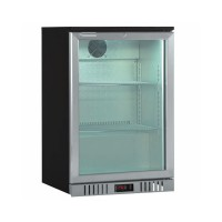 BACK BAR REFRIGERATED SHOWCASE WITH 1 HINGED DOOR WITH STAINLESS STEEL FINISH