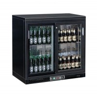 REFRIGERATED DISPLAY AND BACK BAR WITH 2 SLIDING DOORS
