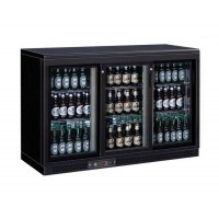 REFRIGERATED DISPLAY AND BACK BAR WITH 3 SLIDING DOORS