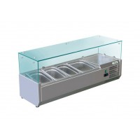 REFRIGERATED DISPLAY FOR PIZZA - 3 CONTAINERS GN 1/3 + 1 GN 1/2