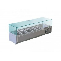 REFRIGERATED DISPLAY FOR PIZZA - 5 CONTAINERS GN 1/4