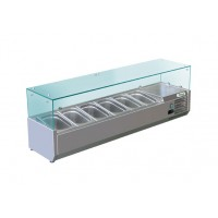REFRIGERATED DISPLAY FOR PIZZA AND 6 CONTAINERS GN 1/4