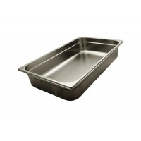 STAINLESS STEEL GASTRONORM BASIN GN 1/1 HEIGHT 10 cm