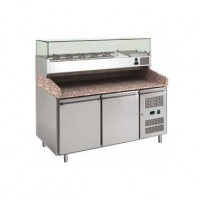 REFRIGERATED COUNTER FOR PIZZERIA FC VENTILATED 150 cm - 2 DOORS