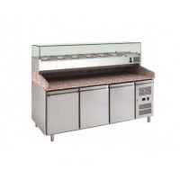 REFRIGERATED COUNTER FOR PIZZERIA FC VENTILATED 200 cm - 3 DOORS