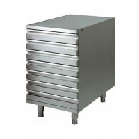 STAINLESS STEEL FC DRAWER UNIT FOR PIZZA DOUGH CONTAINERS