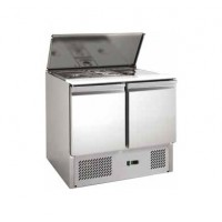 REFRIGERATED SALADETTE FC FOR GN CONTAINERS - POLYETHYLENE TOP - 2 DOORS
